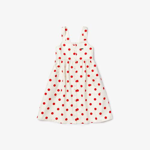 Girls' Polka Dot Cotton Dress