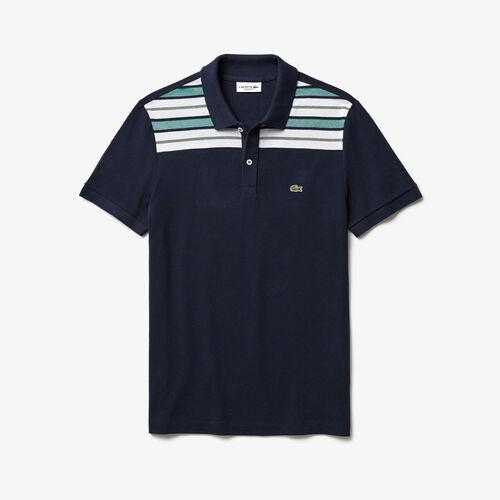 Men's Lacoste Striped Pane Polo Shirt
