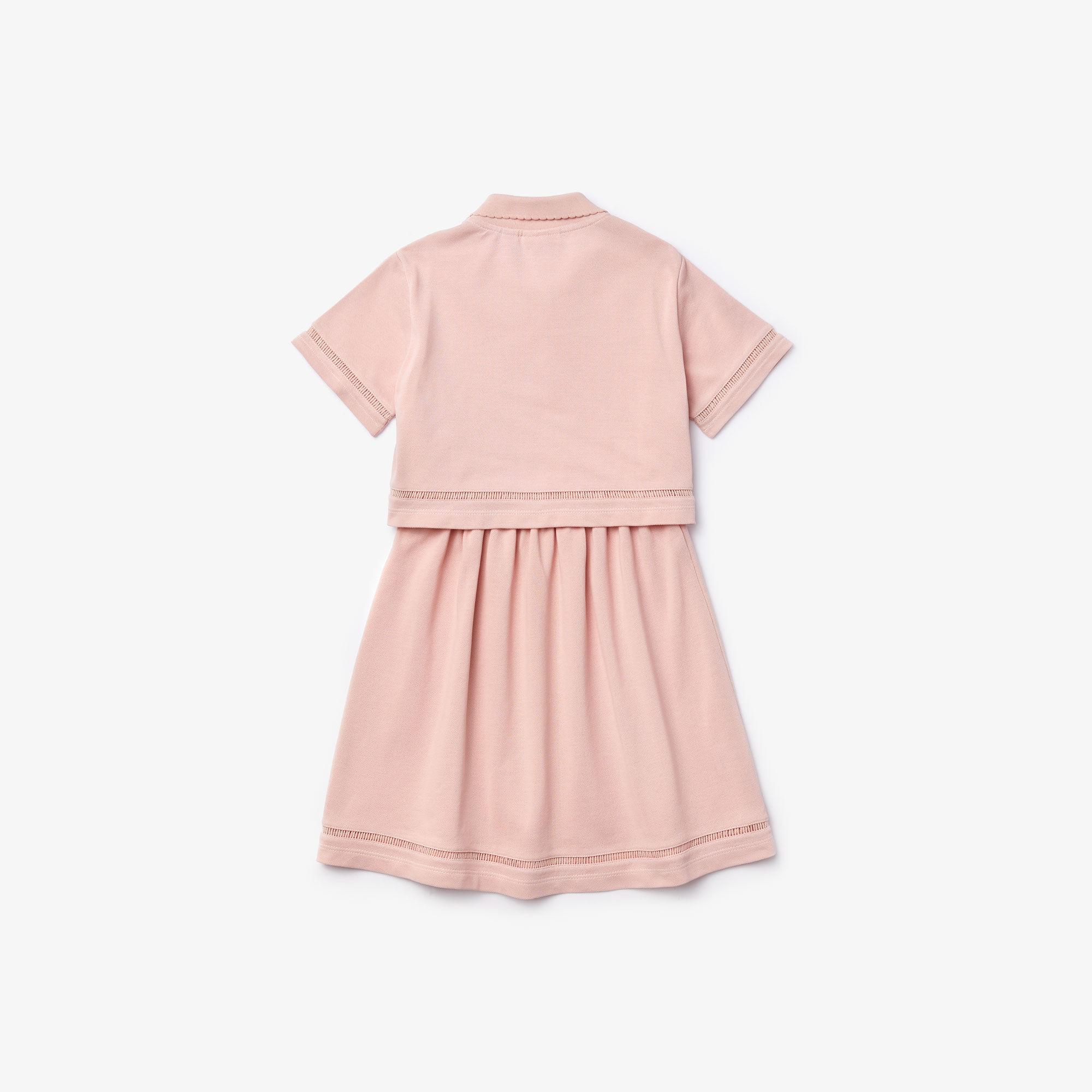 Girl's Polo-Style Trompe l'Oeil Dress