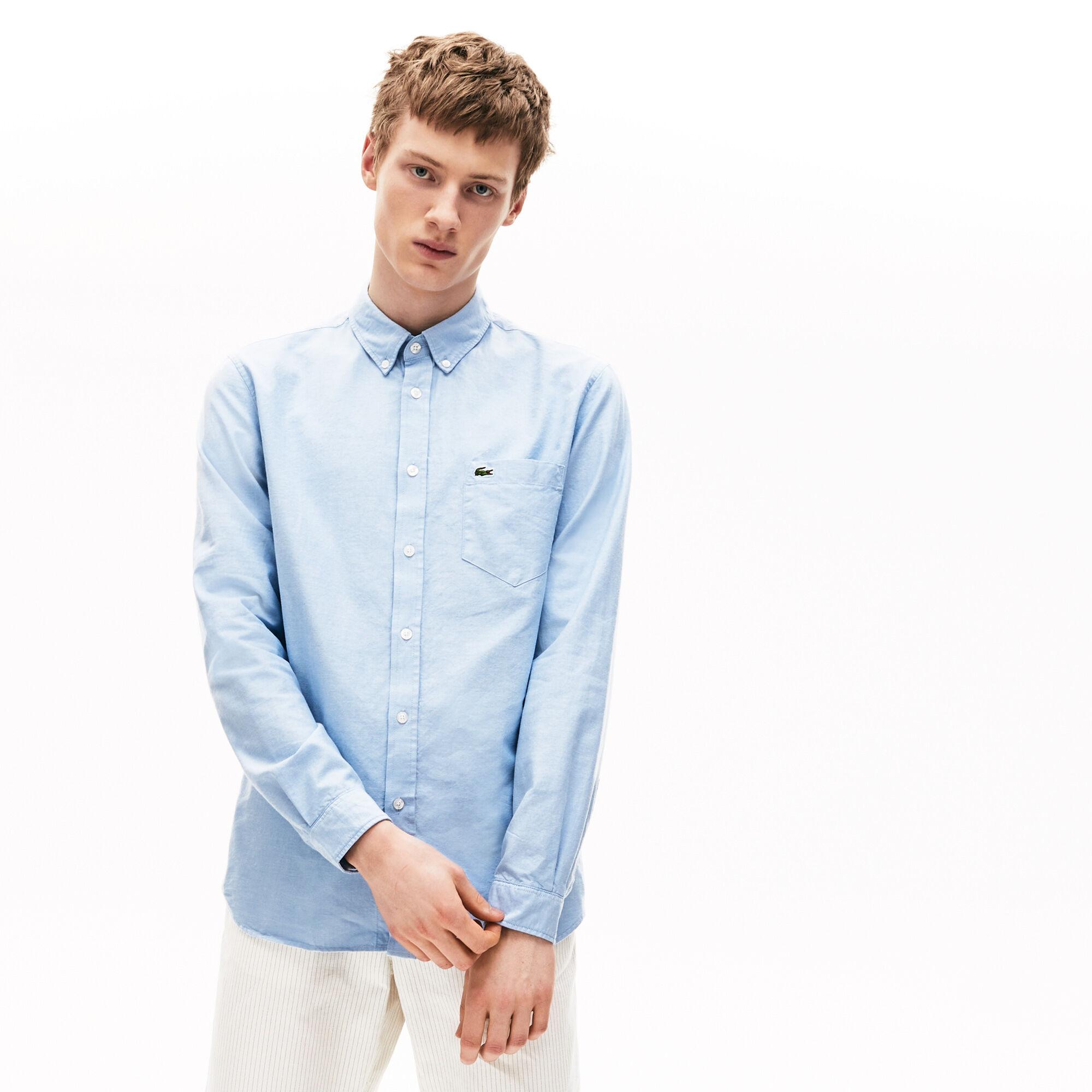 قميص من قطن أكسفورد بقصة عادية للرجال