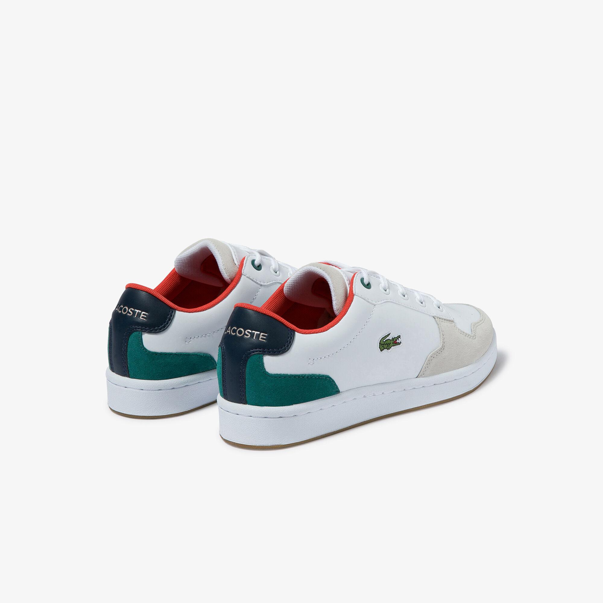 حذاء رياضي خفيف للشباب من مجموعة Masters Cup من الجلد الفضي والشمواه