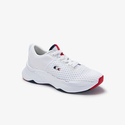 Women's Court-drive Tricolour Textile Trainers