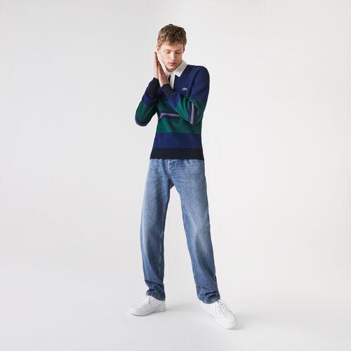 Men's Loose Cut Five-pocket Cotton Denim Jeans