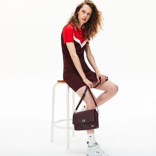 Women's Daily Classic Coated Piqué Canvas Clasp Shoulder Bag