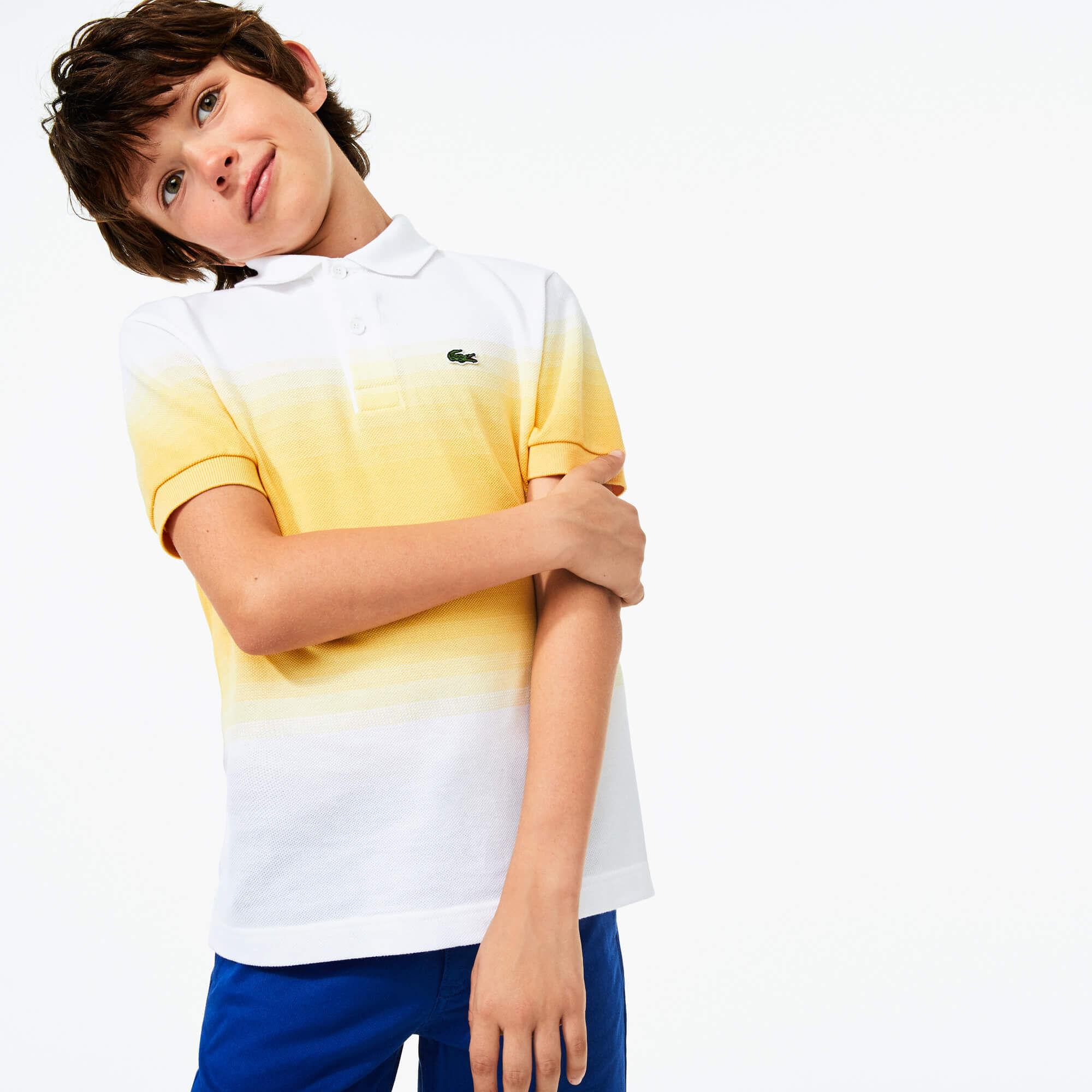 Boys' Lacoste Made in France Organic Cotton Piqué Polo Shirt