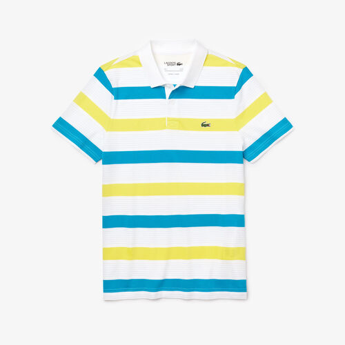 Men's Lacoste Sport Striped Ultra-light Cotton Polo Shirt Shirt