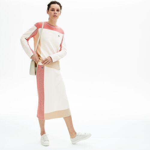 Women's Colourblock Pencil Skirt