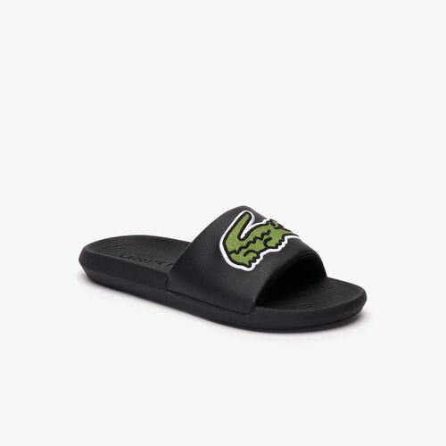 Men's Oversized Croco Rubber Slides
