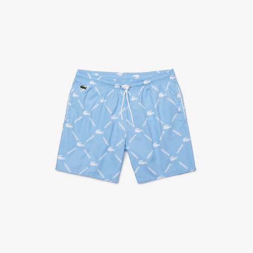 Men's Lacoste Live Monogram Print Swimming Trunks
