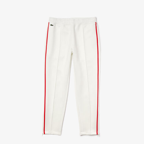 Women's Straight Cut Contrast Bands Tracksuit Pants
