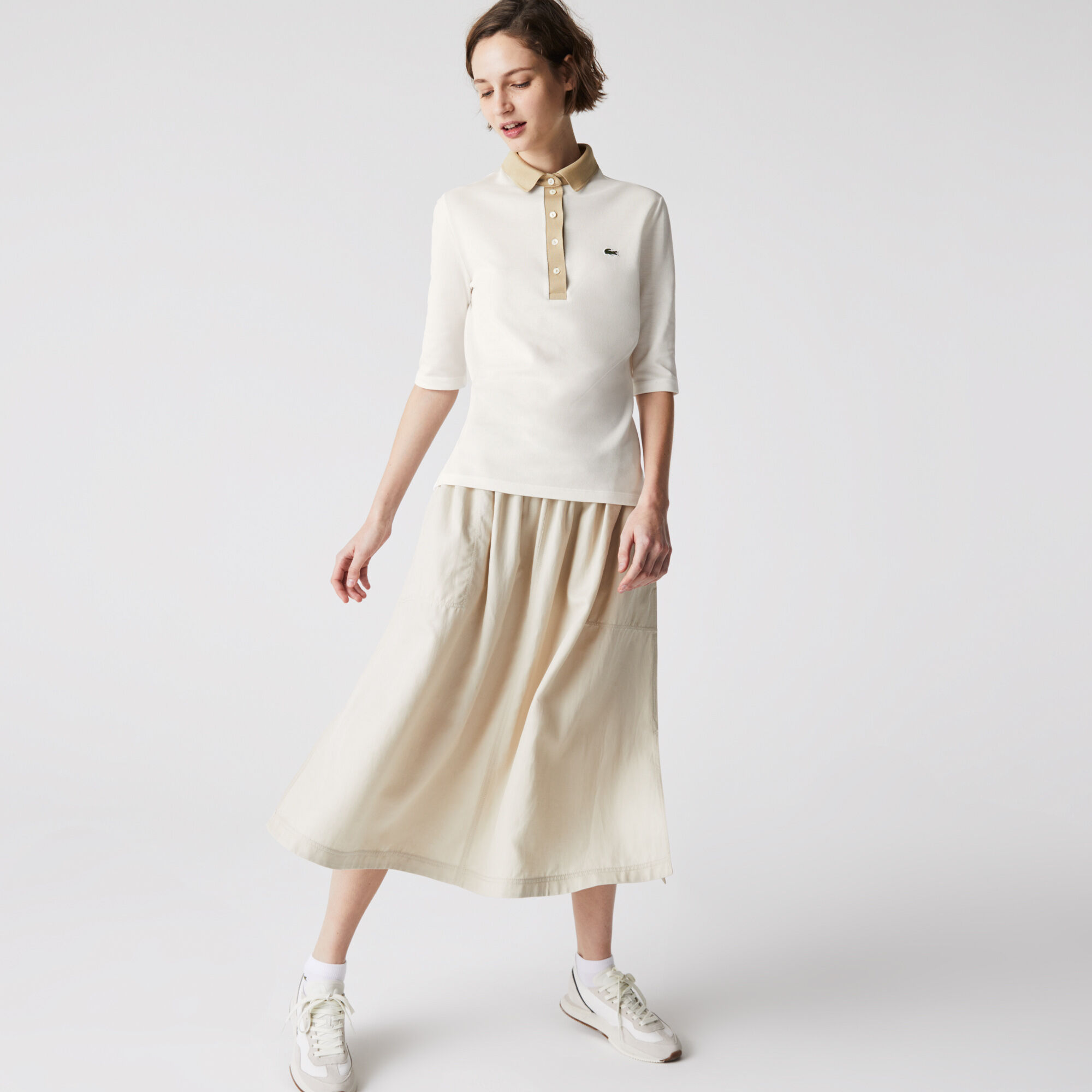 Women's Lacoste Slim Fit Cotton Polo Shirt