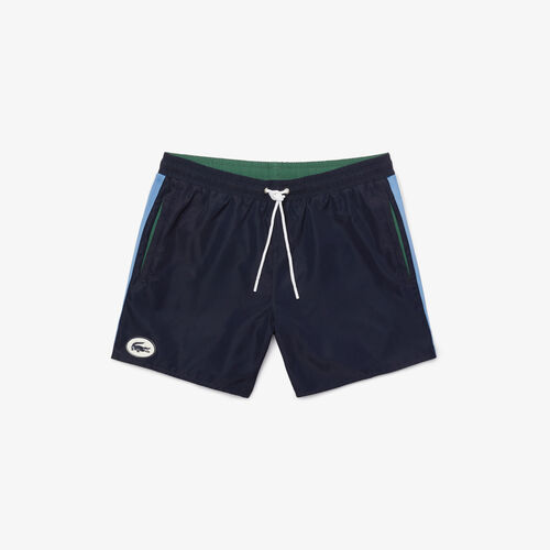 Men's Heritage Contrast Bands Short Swimming Trunks