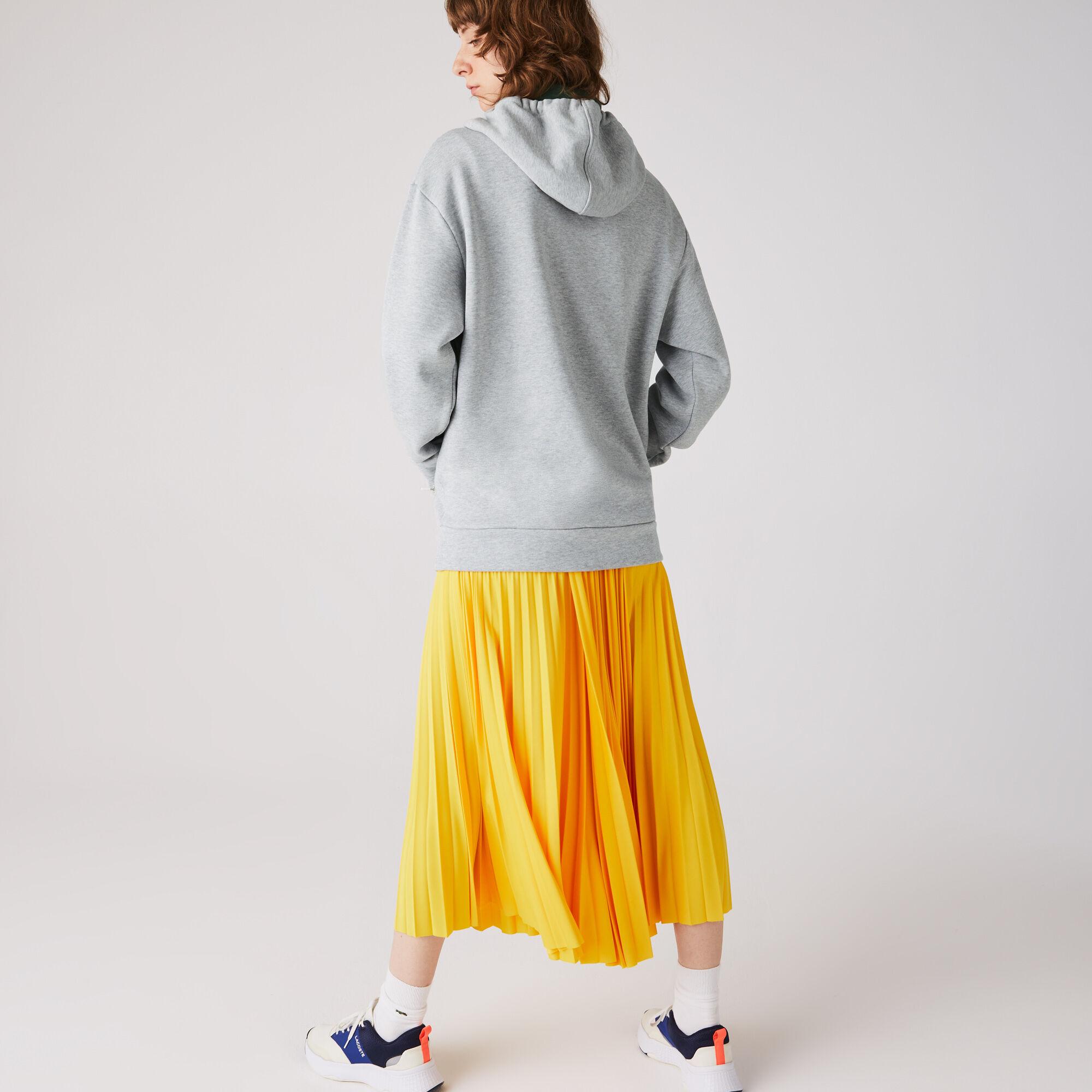 Women's Oversized Crocodile Print Hooded Fleece Sweatshirt