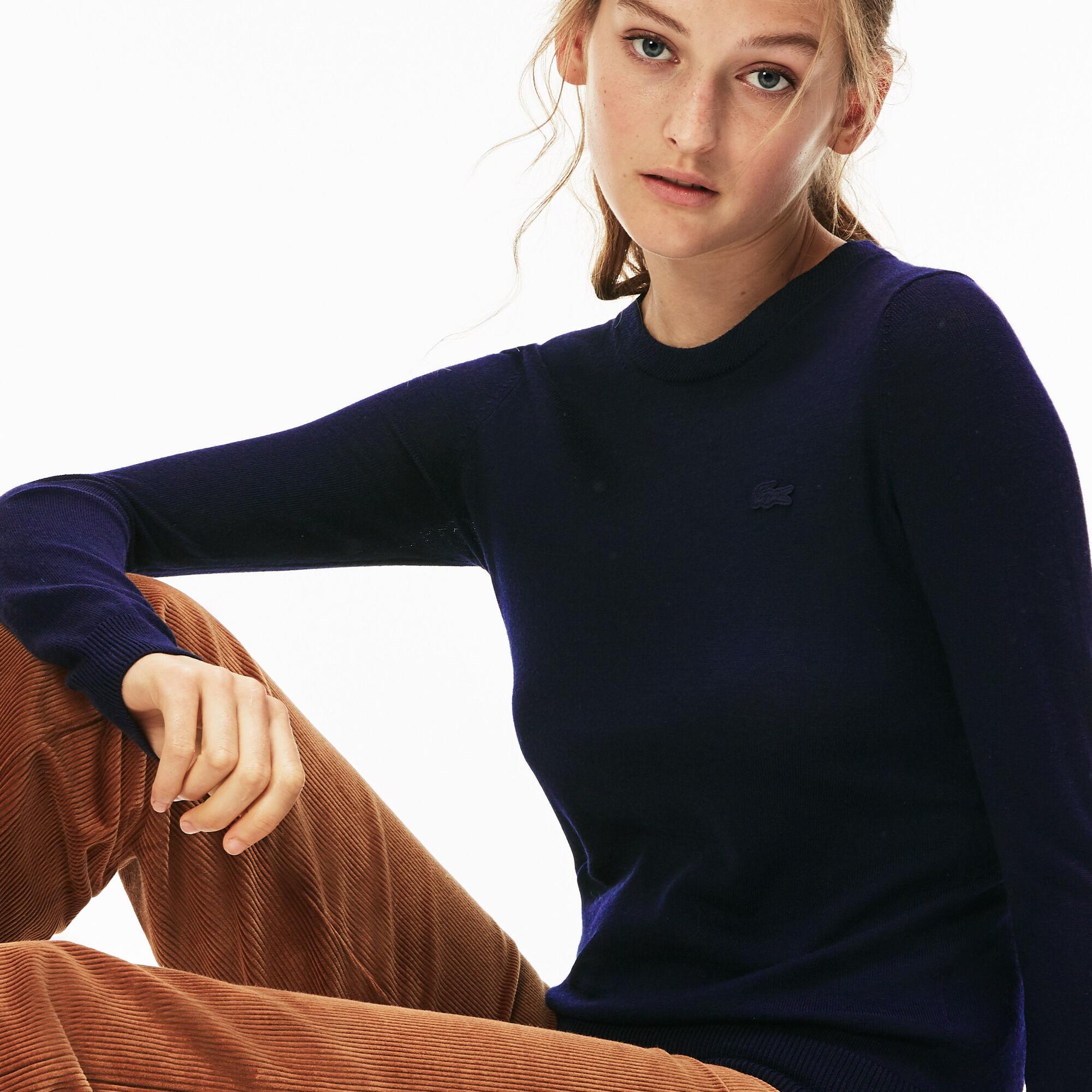 Women's Crew Neck Wool Jersey Sweater