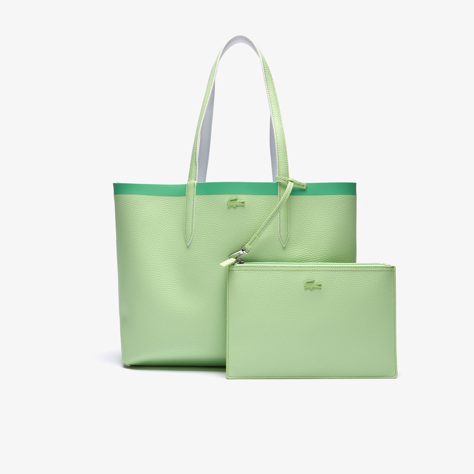 Women's Anna Reversible Contrast Band Coated Canvas Tote Bag