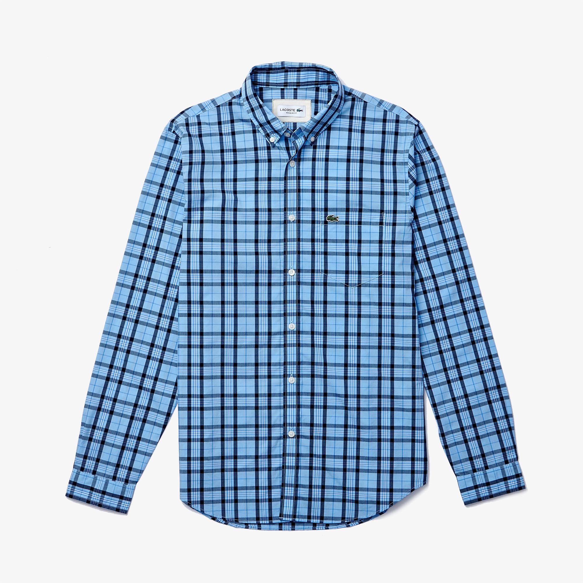 Men's Regular Fit Check Cotton Poplin Shirt