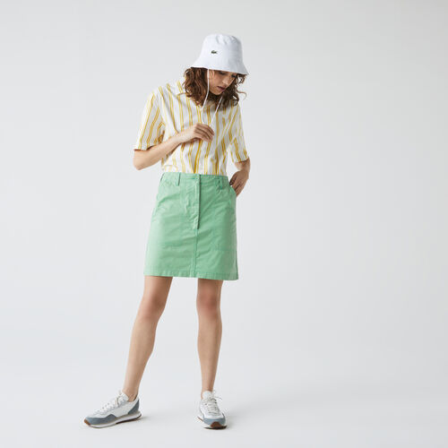 Women's Short Lightweight Cotton Pocket Skirt