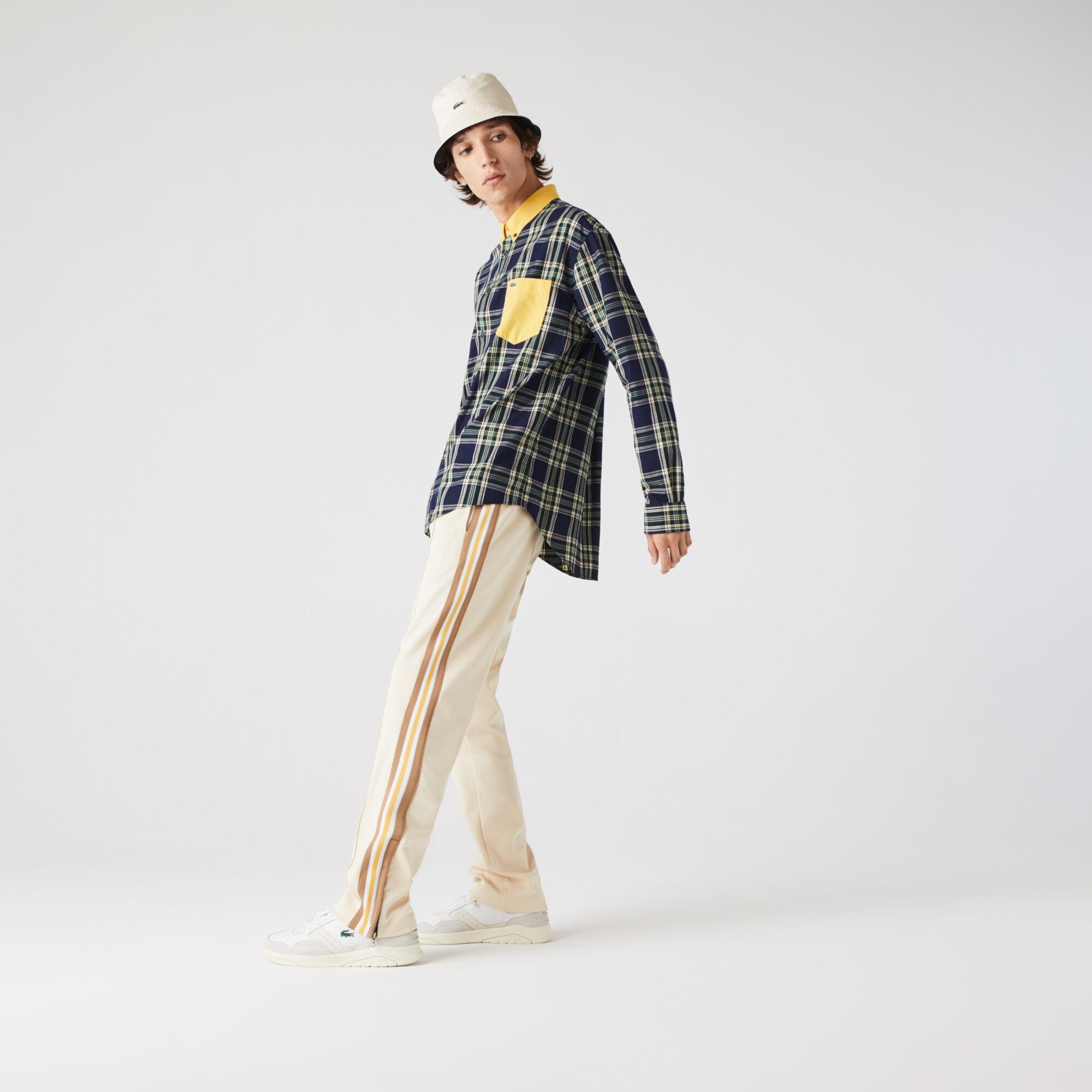 Men's Straight Cut Heritage Contrast Bands Tracksuit Pants