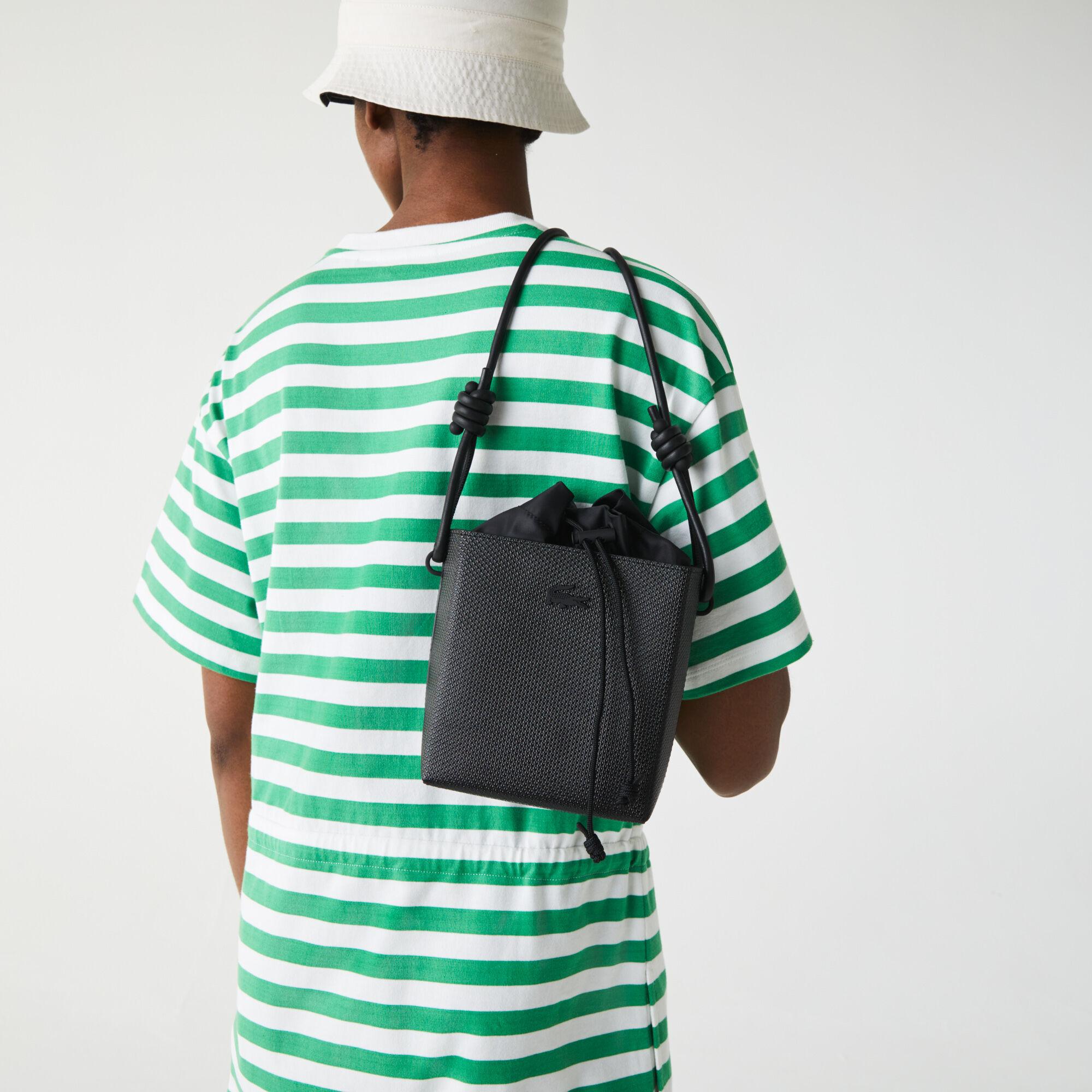 Women's Chantaco Small Square Piqué Leather Bucket Bag