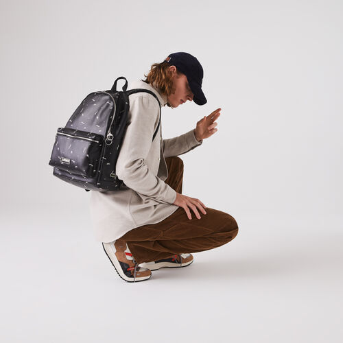 Men's Lcst Printed Coated Canvas Backpack