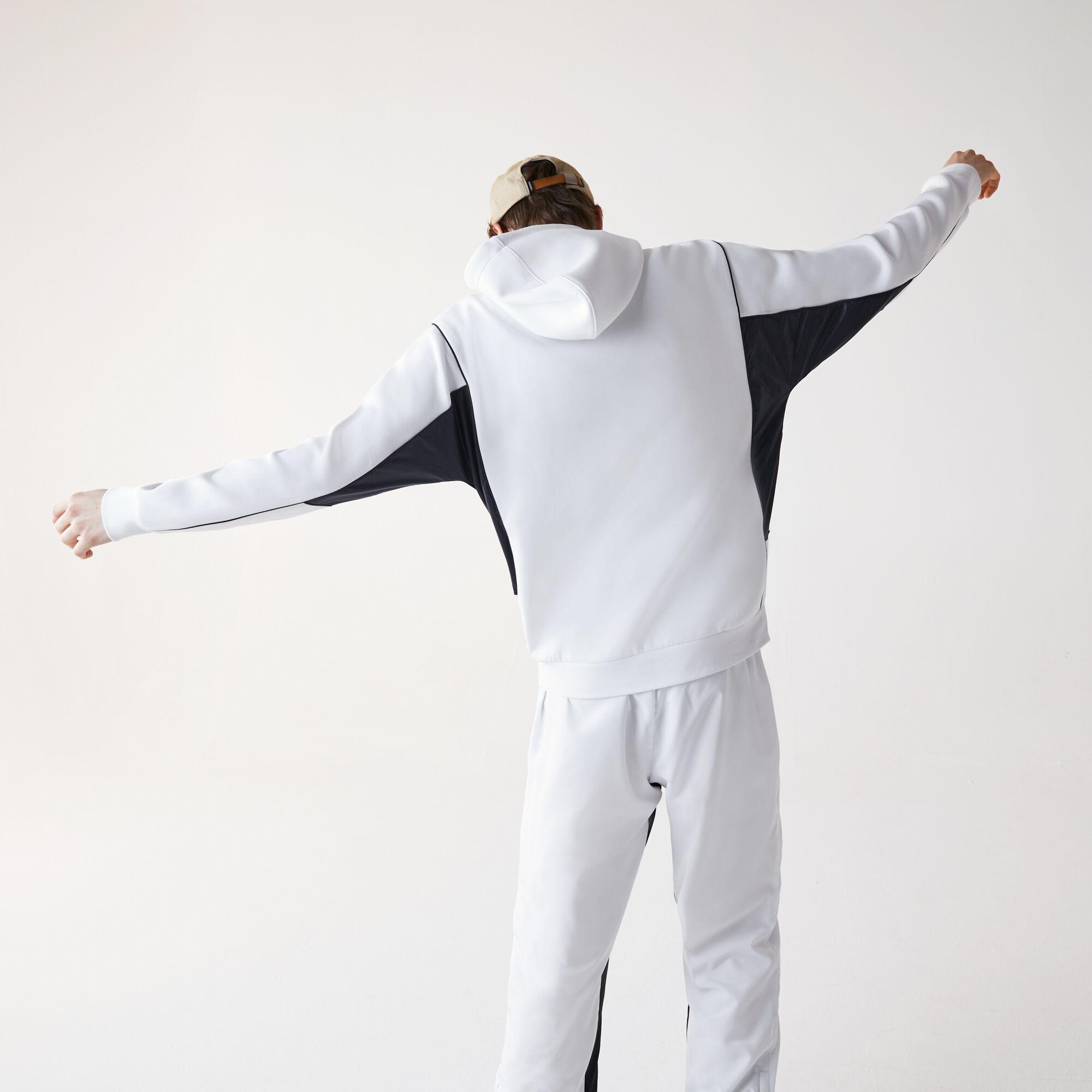 سويت شيرت القطن المرن للرجال مع غطاء رأس وحياكة ثنائية الخامة