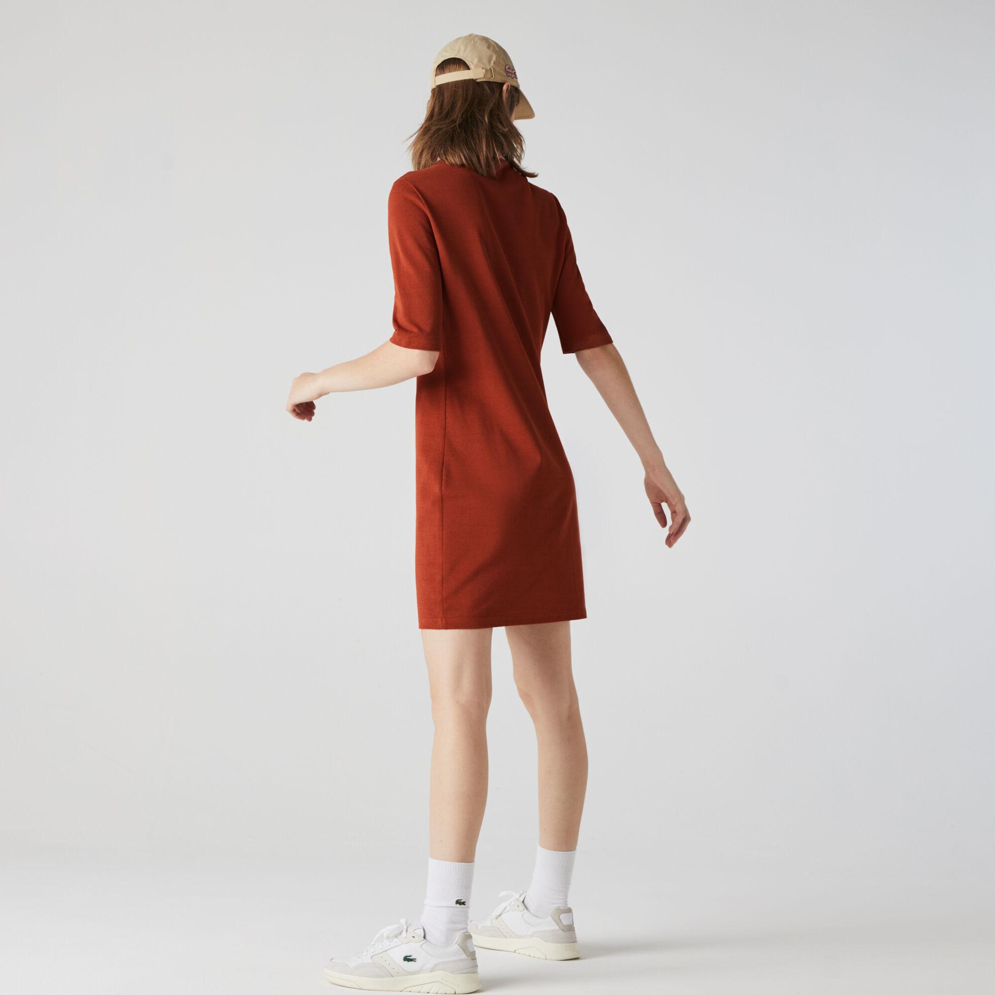 فستان بولو من بيكيه القطن الفاخر للنساء