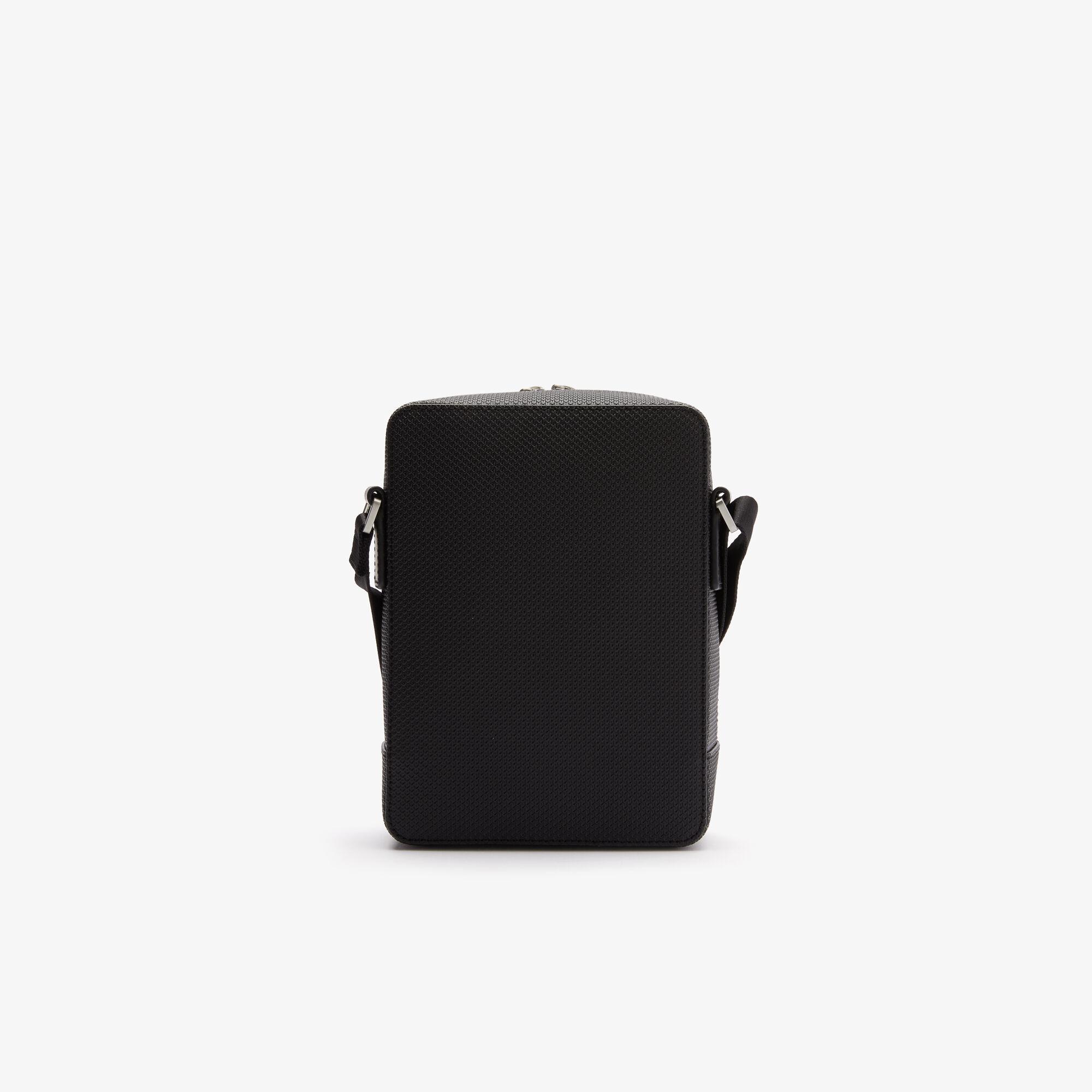 Men's Chantaco Matte Stitched Leather Vertical Camera Bag