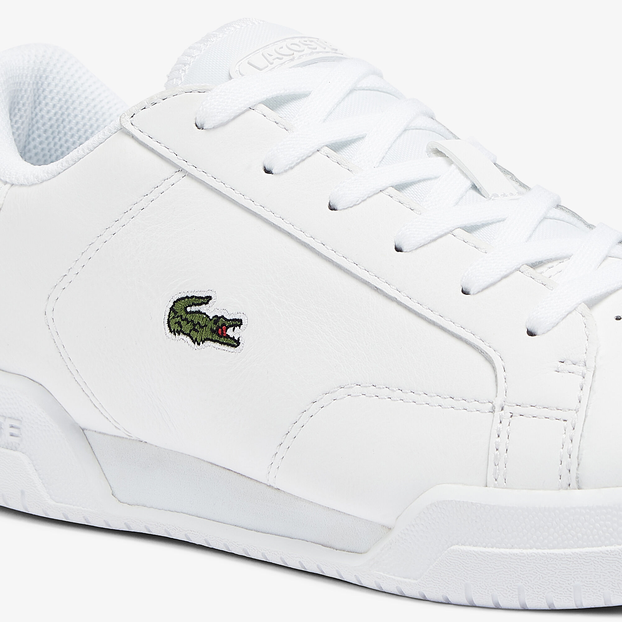 Women's Twin Serve Leather Cupsole Trainers